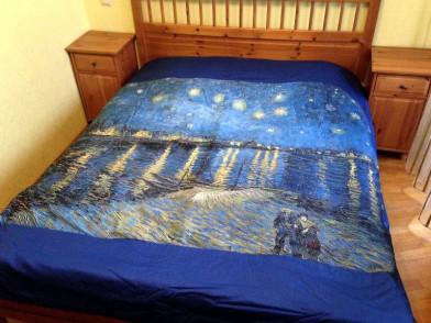 Покрывало с фотопечатью (фотоплед) Звездная ночь над Роной