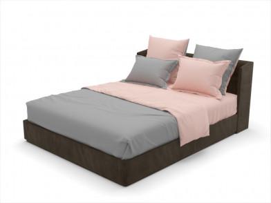 """Комплект постельного белья из сатина гладкого """"сумерки и розовый"""""""
