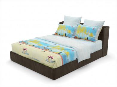 """Комплект постельного белья из сатина с рисунком """"пляж"""""""