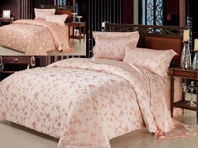 """Комплект постельного белья из тенсела """"сакура абрикос пастель"""""""