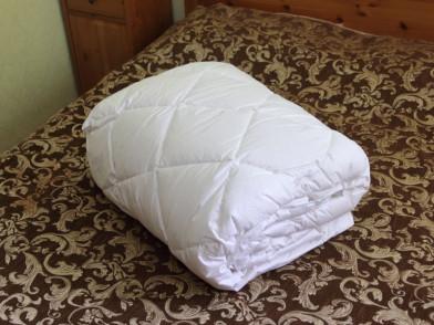 Одеяло круглое пуховое пух в тике