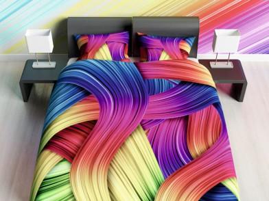 """Комплект постельного белья """"Цветные локоны"""""""