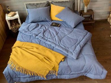 Покрывало-одеяло из гладкого сатина