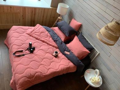 Покрывало-одеяло из гладкого сатина люкс